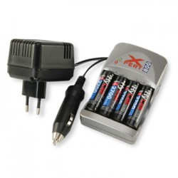 CHARGEUR hycell XPERT800 + 4 ACCUS AA
