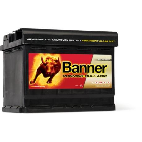 batterie banner agm 56001 12v 60ah 640a. Black Bedroom Furniture Sets. Home Design Ideas