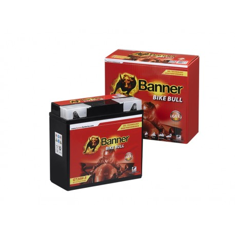 BATTERIE MOTO BANNER GT20H-3 (51913)  GEL