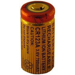 ACCU RECHARGEABLE CR123A LI-ION 3.7V