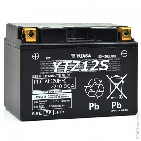 BATTERIE MOTO YUASA YTZ12S 12V 11.6Ah