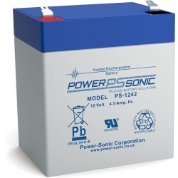 BATTERIE AGM POWERSONIC PS-1242 12V 4.5Ah V0