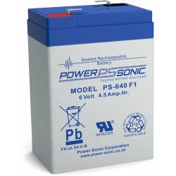 BATTERIE POWERSONIC  PS-640 F1 6V 4.5AH