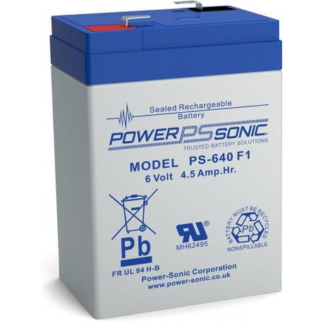 BATTERIE POWERSONIC  PS-640 F1 6V 4.5AH